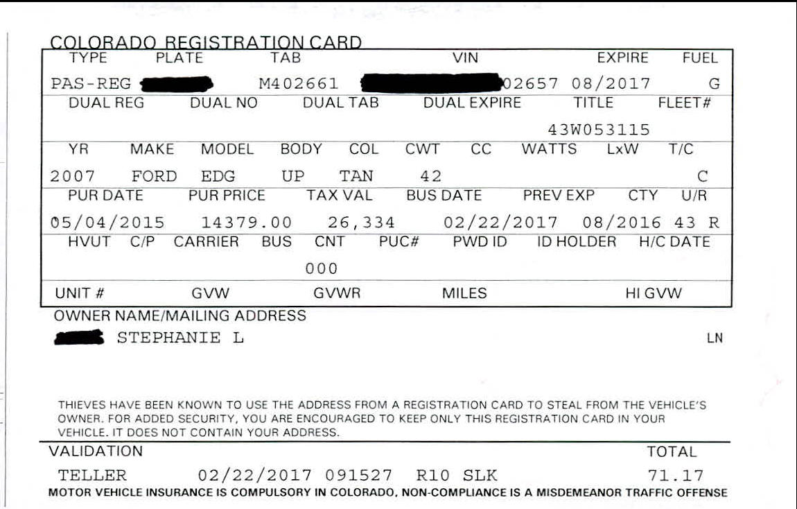 Colorado New Car Registration Grace Period